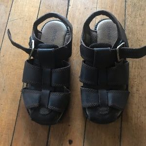 Stride Rite, brown  leather  Hudson sandals,
